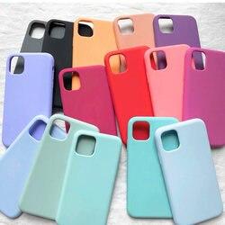 Original Official Silicone Case For iPhone 12 11 pro XS Max XR X Liquid Case for iPhone 7 8 plus 6 6S SE 2020 12 Mini Full Cover