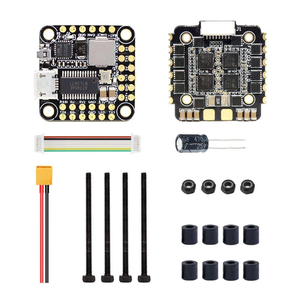 HGLRC FD435 Stack Flytower 20x20 3-6S FD F4 Mini Flight Controller 35A BL32 4in1 ESC For Racing Drone Helicopter
