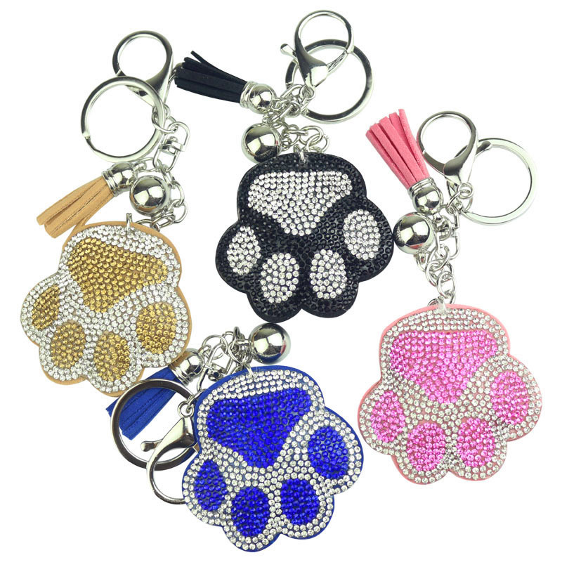 New Creative Korean Velvet Cats Claw Key Button Bag Jewelry Hanger Car Decoration