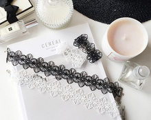 White Black Lace Choker Necklace Women Chocker tattoo choker Vintage Collier Femme Statement Necklaces Pendants Collares Mujer(China)