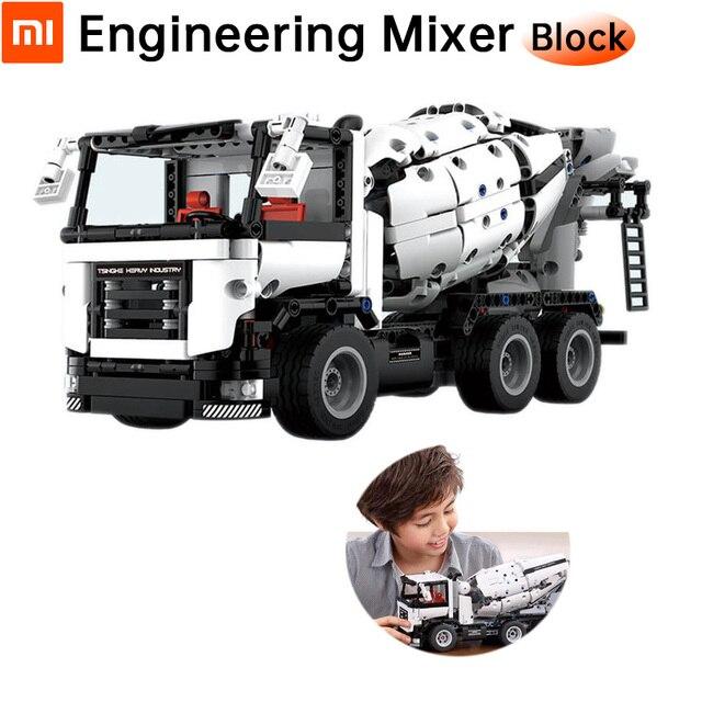 Mezclador de ingeniería Original Xiaomi bloque divertido disfruta de construir modelo de alta simulación un modo de cambio de tecla diseño de doble diferencial