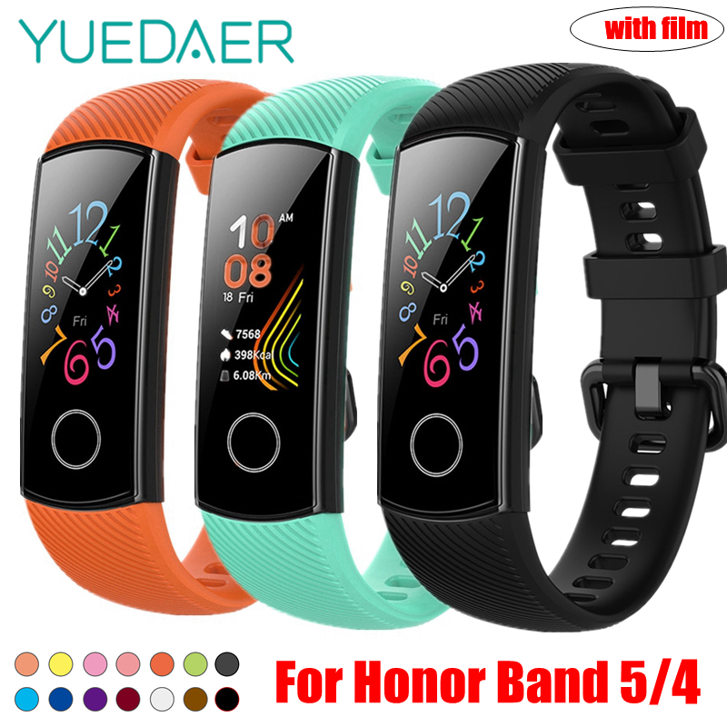 YUEDAER Strap For Honor Band 5 Wrist Strap For Huawei Honor Band 4 Silicon Bracelet Soft TPU Wristband Band5 Band4 Accessories