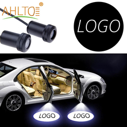 2X Car Door Lights Welcome Logo Lamp Laser Projector Ghost Shadow With Line Light Atmosphere Lamp Custom Logo Ghost Shadow Light