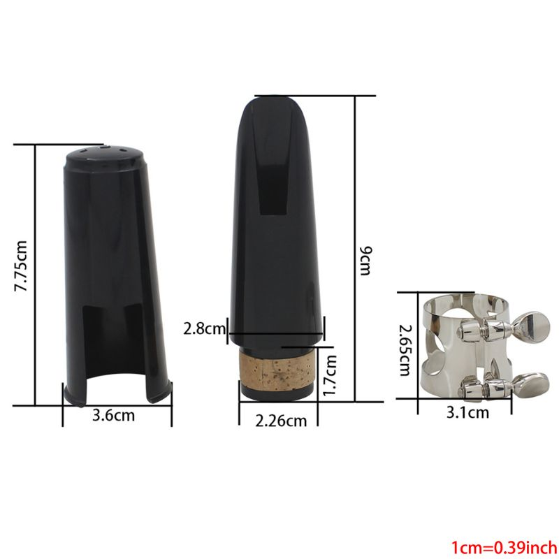 Clarinet Mouthpiece Kit With Ligature,one Reed And Plastic Cap~black Whosale&Dropship