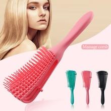1pc Scalp Massage Comb Hair Brush Women Detangle Hairbrush Anti-tie Knot Professional Hair Brush Octopus Type Comb