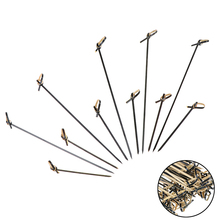 Ends Knotted Cocktail Picks 100pcs Disposable Bamboo Picks with Twisted for Cocktail Party Food Drink Barbeque Snacks Club