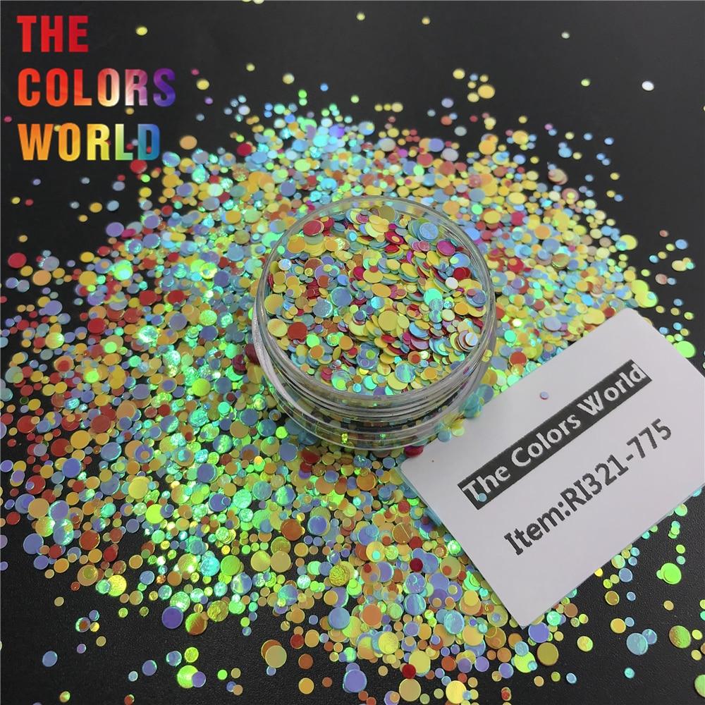 TCT-363 круглая точка микс Русалка жемчуг блеск для ногтей художественное украшение Смола Искусство на тумблеры и формы ремесло аксессуары фестиваль