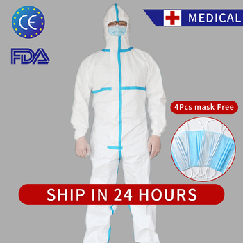 Isolation Gown Protective Clothing Combination Virus PPE Medical Gown Disposable Coverall Medical Suit Gowns