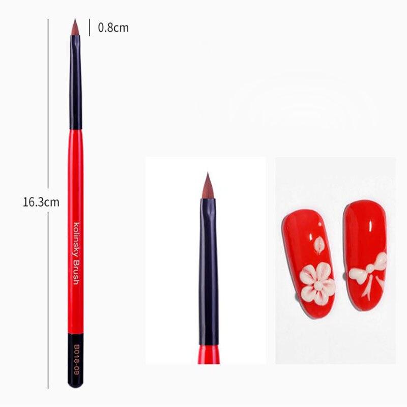 Uv gel escova forro pintura caneta acrílico