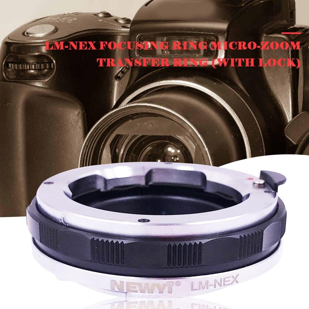 Adaptateur de montage d'objectif MACRO FOCUS manuel pour objectif LEICA M LM vers pour bague adaptateur de Zoom de caméra NEX e-mount SONY