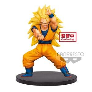 Image 1 - Tronzo Original Banpresto Dragon Ball Z Ultimate Soldier Legends Goku SSJ3 Kamehameha PVC Action Figure DBZ Model Toys Figurines