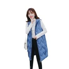 Autumn Winter Spring Vest Women Waistcoat 2019 Female Sleeveless Jacket Hooded Warm Long Vest Colete Feminino цена