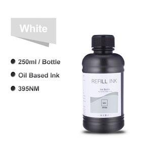 Image 2 - 6x250ml LED UV Tinte Flasche Für Epson L800 L805 L1800 R290 1390 1400 1410 4800 7800 4880 DX5 DX7 UV Drucker Tinte (BK C M Y WH WH)