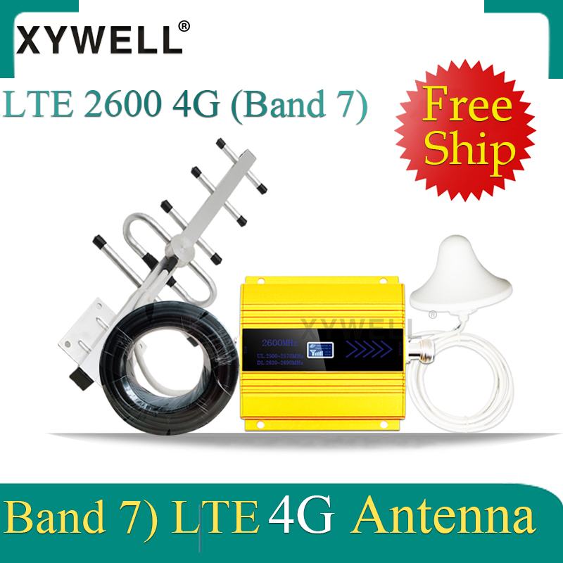 New!! 4G 2600mhz FDD LTE Band7 4G Cellular Amplifier GSM Mobile Signal Booster LTE 2600 4G Network 4G Data Signal Repeater