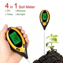 4 In 1 Digital Soil PH Meter Soil Moisture Monitor Temperature Sunlight Tester Meter Acidity Moisture Measurement Garden Tool