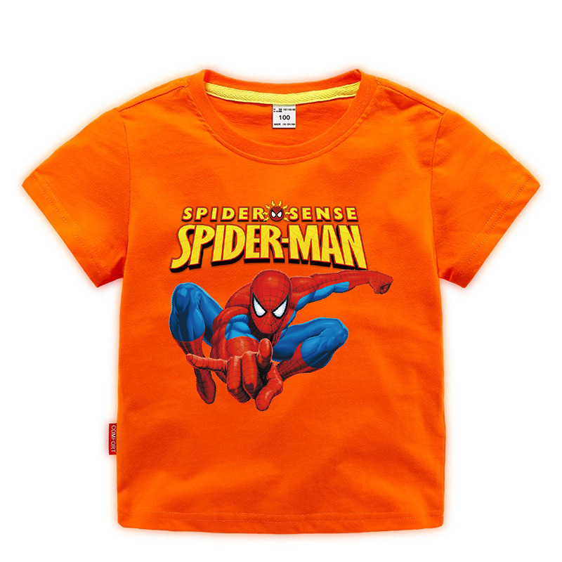 Disney Baby Spiderman T-shirt Childrens Boys Tops Girls custom Clothing T-shirt Kids Cartoon Short Sleeve Tee Clothes Summer New