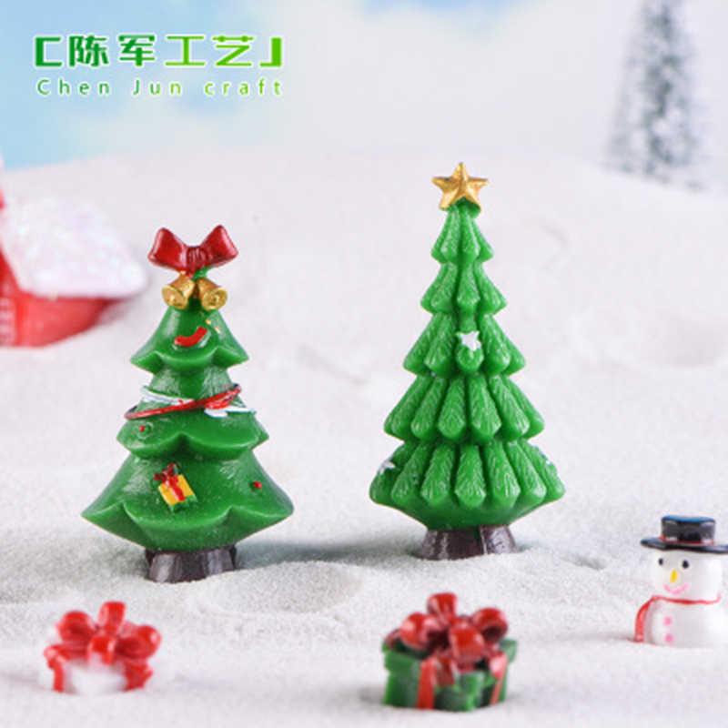 Mini Pohon Natal Salju Beku Kecil Pine Tree Kerajinan DIY Xmas Pesta Dekorasi Ornamen untuk Dekorasi Rumah 1 Pc
