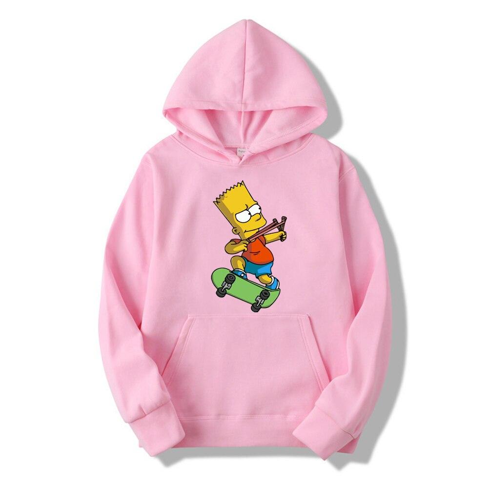 Casual The Simpsons Print Hip Hop Long Sleeve Men's And Women's Funny Hoodie Harajuku Sweatshirt Top