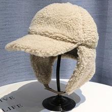 Winter Cap Hats Russian-Hat Earflap-Cap Bomber-Hat Warm Women Solid for Thick Berber