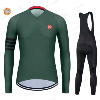 New 2020 Racing Thermal Fleece Cycling Jersey Set Bicycle Bib Shorts Bike Ropa Ciclismo Hombre Kit