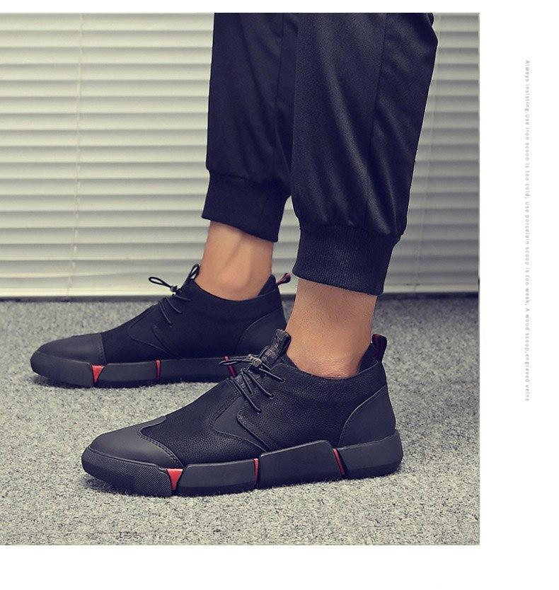 H0e722c0b0684498f9734f89ca8310edc6 Shoes Men Black Autumn Winter Plush Keep Warm Men Casual Shoes Leather Breathable Fashion Men Shoes High Quality