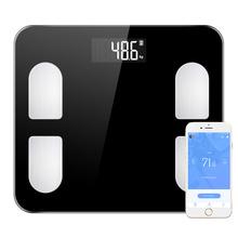 Nowa cyfrowa waga do kontroli masy ciała inteligentna równowaga połącz waga do ważenia ciała Mi skład ciała skala tłuszczu procent Bluetooth APP tanie tanio Szkło hartowane Tkanki tłuszczowej i badania zawartości wody Czteropunktowy typ DIGITAL Stałe Wagi domowe Plac SE49001