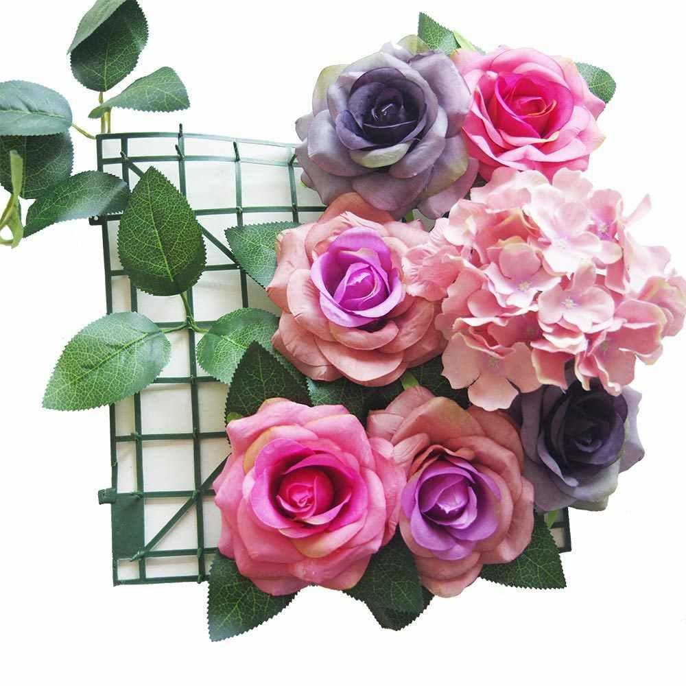 Kelas Atas Sutra Layar 3 Garpu Rose Daun Mori Seri Bunga Hiasan