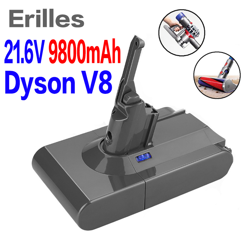 High Quality 21.6V 9800mAh Li-ion Rechargeable Battery Pack For Dyson V8 Series 6.8Ah Free Shipping