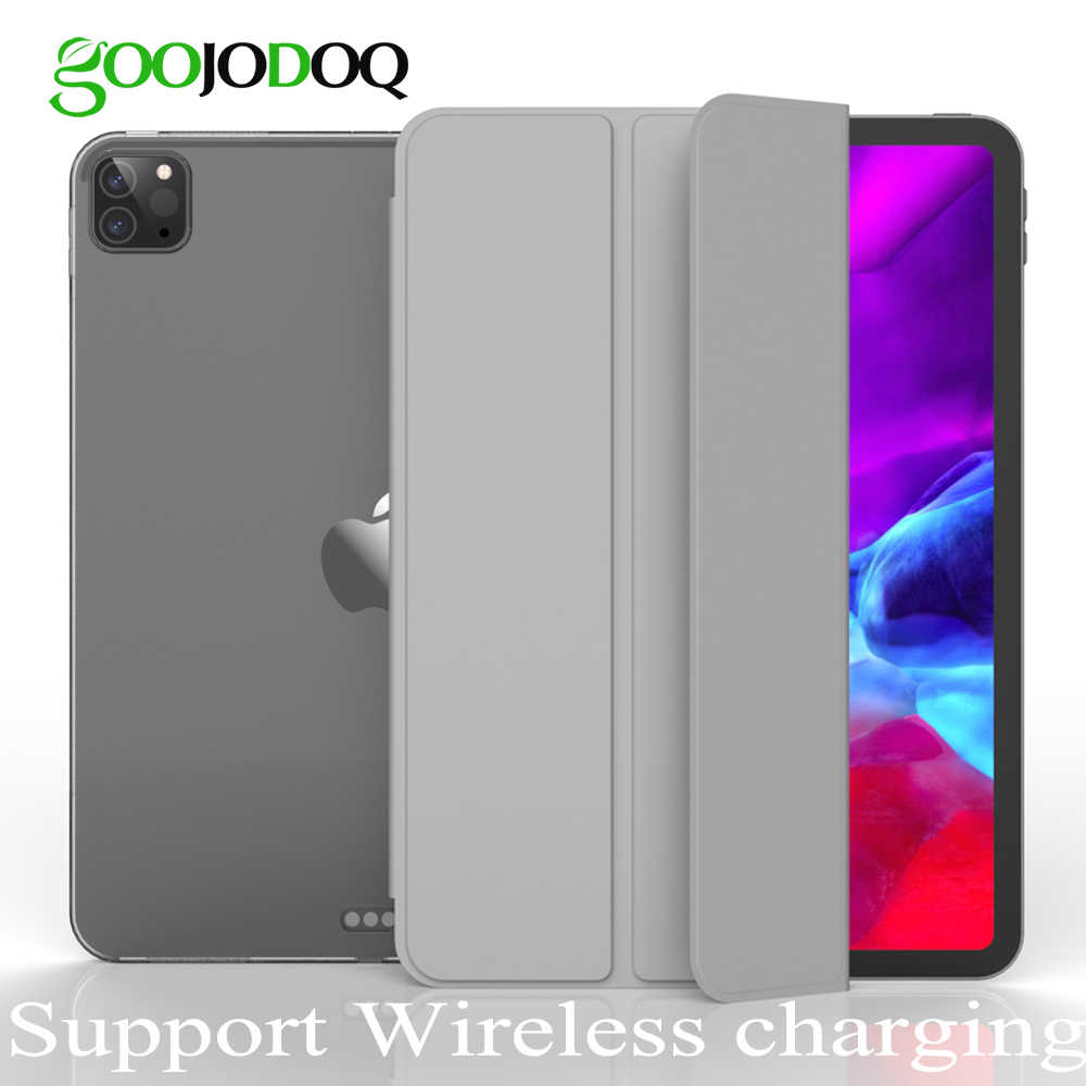 GOOJODOQ per iPad Pro 11 custodia 2020 Pro 12.9 2018 2020 custodia Funda supporto ricarica Wireless per Apple Pencil custodia morbida in TPU