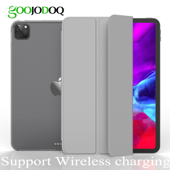 GOOJODOQ for iPad Pro 11 Case 2020 Pro 12.9 2018 2020 Case Funda Support Wireless Charging for Apple Pencil Soft TPU Cover