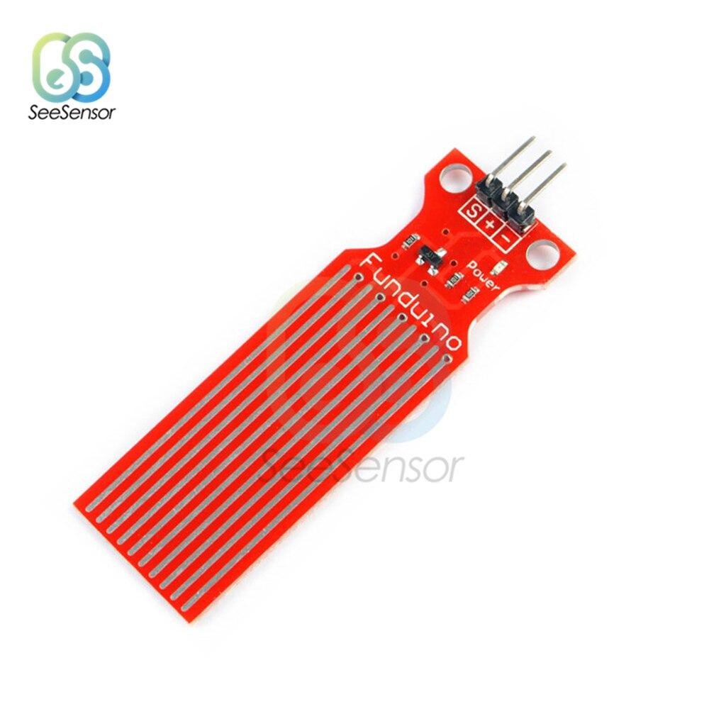 5Pcs Rain Water Level Sensor Module Analog Sensor Detection Liquid Surface Depth Height For Arduino DC3-5V 20mA