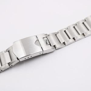 Image 5 - Carlywet 22mm 고품질 316l 스테인레스 스틸 실버 시계 밴드 스트랩 시계 밴드 tudor 블랙 베이