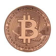1 sztuk miedziane złote bitcoiny fizyczny Metal Art moneta kolekcjonerska przyjęcie noworoczne prezent pamiątka Decor BTC antyczne imitacje