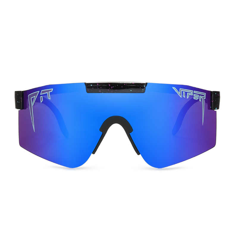 2020 pit viper flat top eyewear tr90 blue frame mirrored lens windproof sport fashion polarized sunglasses for man / woman uv400