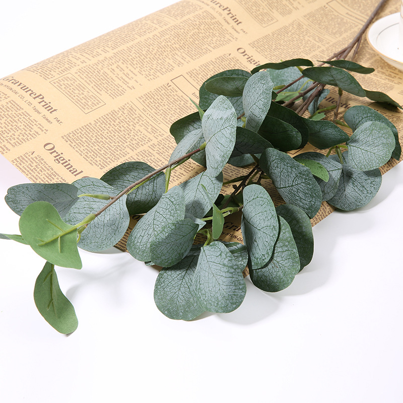 Home Garden Decoration Artificial Plants Eucalyptus Branches Green Plant Wedding Supply Silk Eucalyptus Artificial Fake Plants