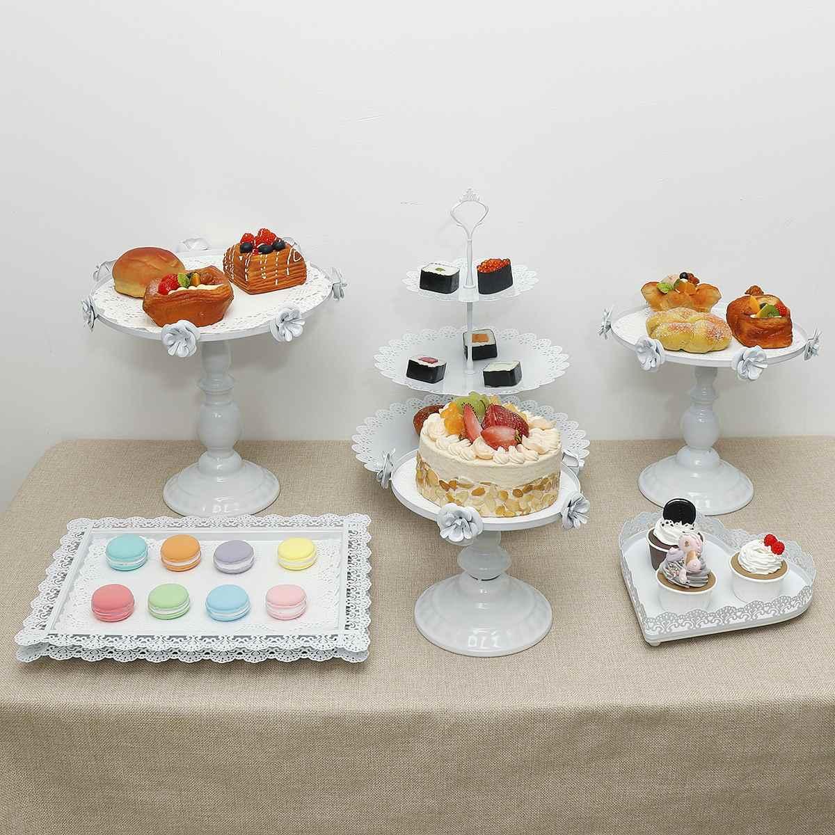 Terrific 6Pcs Metal Iron Cake Stand Set Cupcake Holder Kids Birthday Funny Birthday Cards Online Amentibdeldamsfinfo