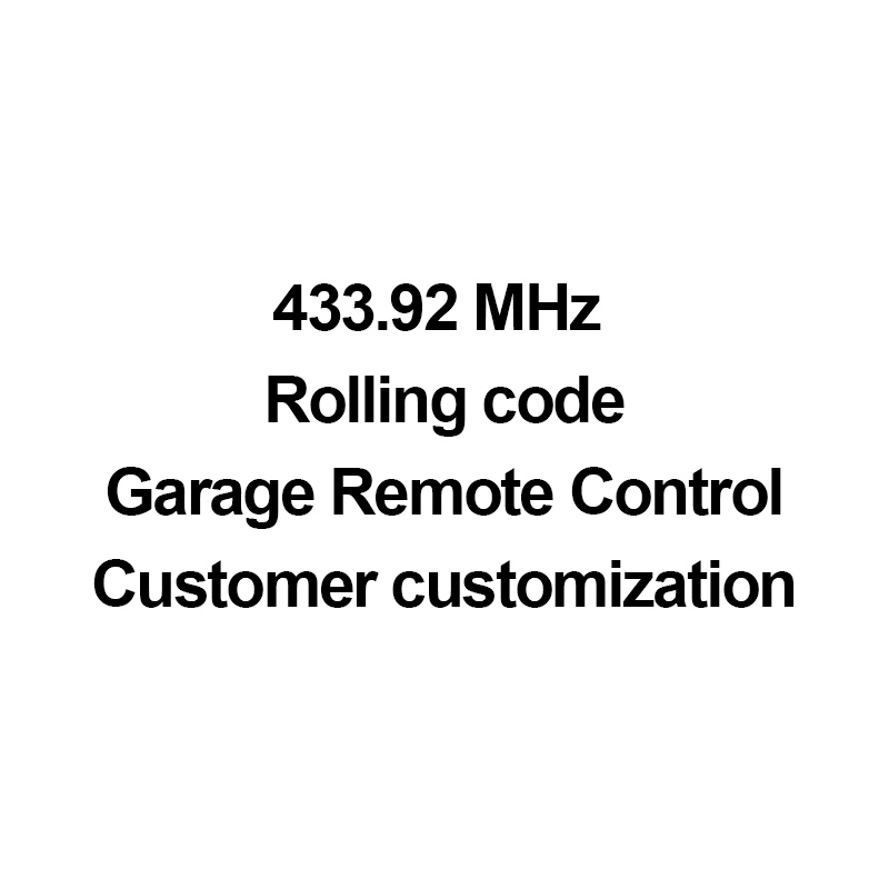 Scimagic N-F-S Garage Door Gate Remote Control 433MHz Rolling Code - Custom Remote Control (please Do Not Buy It Privately)