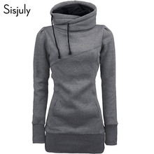 Sisjuly women hoodie sweatshirt solid hooded long sleeve pul