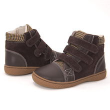 עור אמיתי מגפי ילדי נעלי גדול גודל יחף ילדים נעליים לפעוטות בנות בני מגפי קרסול מגפי fexiable נעלי size25 35