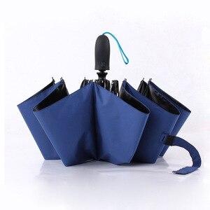 Image 1 - Volledig Automatische Opvouwbare Paraplu Zakelijke Gentleman Een Open Business Mannen Korte Handvat Paraplu Effen Kleur 10 Bone