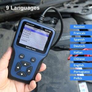 Image 3 - Eanop 12 12v車のバッテリーテスターデジタルlcd診断バッテリーテスター自動車アナライザ充電開始スキャナツールR200