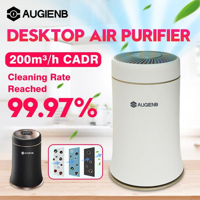 AUGIENB Desktop  Purifier with HEPA Filter Silent Fresh  for Allergies / Mold / Sme / Dust / Pet Dander / VOCs|Air Purifiers|   - AliExpress