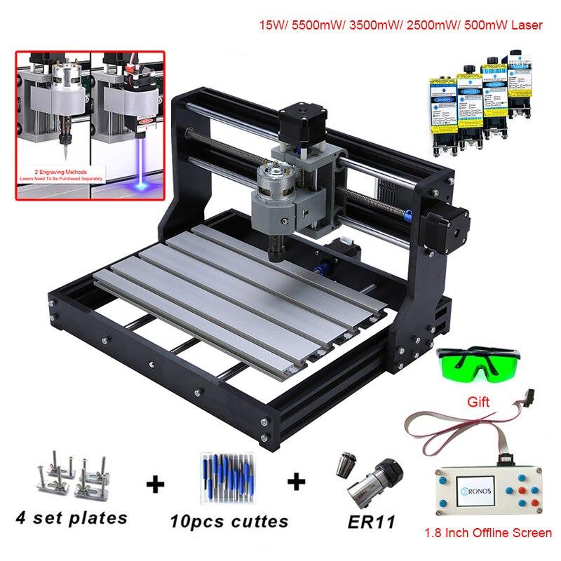 CNC 3018 PRO мини лазерный гравер с ER11 GRBL CNC маршрутизатор для Хобби DIY гравировальный станок дерево PCB ПВХ CNC3018 гравер