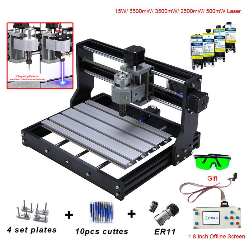 CNC 3018 PRO Mini graveur Laser avec ER11 GRBL CNC routeur pour passe-temps bricolage gravure Machine bois PCB PVC CNC 3018 graveur