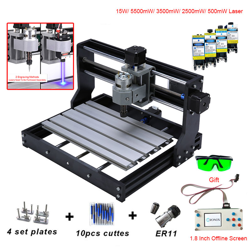 CNC 3018 PRO Mini Laser Engraver With ER11 GRBL CNC Router For Hobby DIY Engraving Machine Wood PCB PVC CNC3018 Engraver
