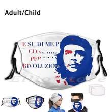 Che Guevara-Me E Su Di Puoi Contare Rivoluzione Máscara Imprimir Lavável Filtro Boca Engraçado Che Che Guevara Samuele Bersani En E