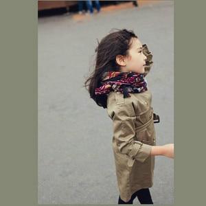 Image 2 - Bé Gái Áo Khoác Thời Trang Đôi Cotton Áo Khoác Áo Choàng Mới Trẻ Em Rãnh Áo Khoác Bé Gái Dài Áo Khoác Mùa Thu Trẻ Em Quần Áo CC147