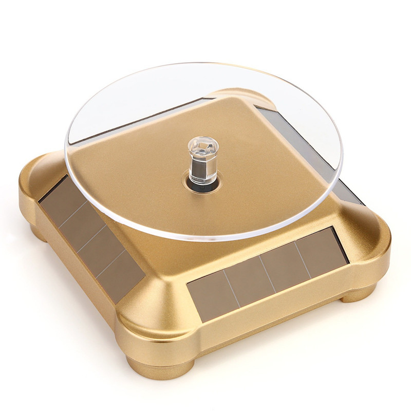 Solar Showcase 360 Turntable Rotating UFO shapes Jewelry Watch Ring Phone Stand Display Jewelry Organizer Hard Display Stand