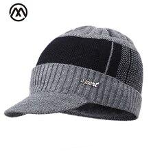 Модная мужская и женская уличная вязаная шапка мужская зимняя шапка и женская теплая хлопковая шапка плюс бархатная утолщенная Солнцезащитная шапка