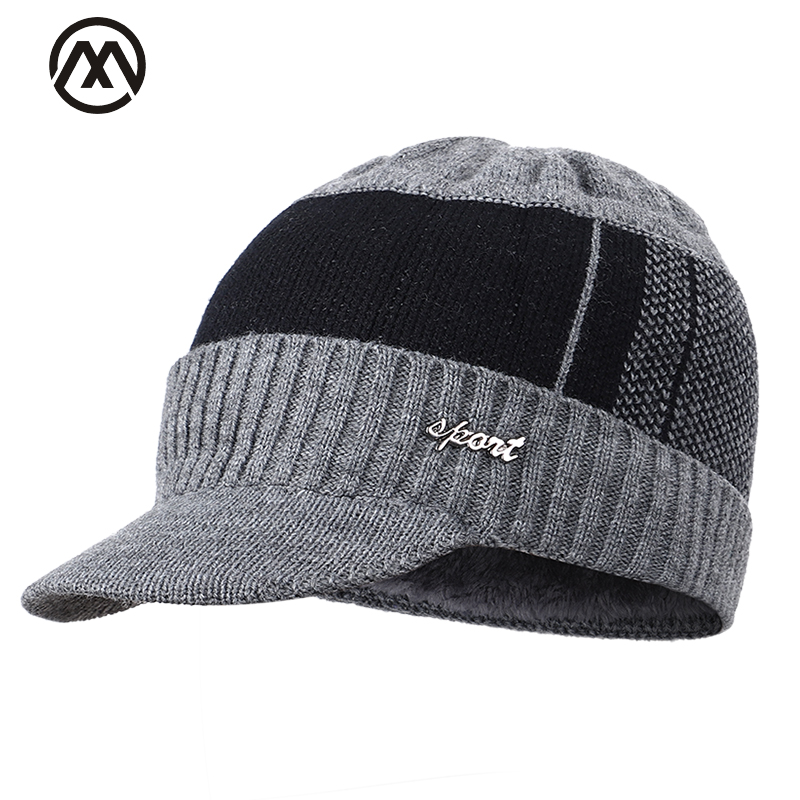 2019 Fashion Men And Women Outdoor Knit Hat Men's Winter Hats Men And Women Warm Cotton Hat Plus Velvet Thickening Sunshade Hat